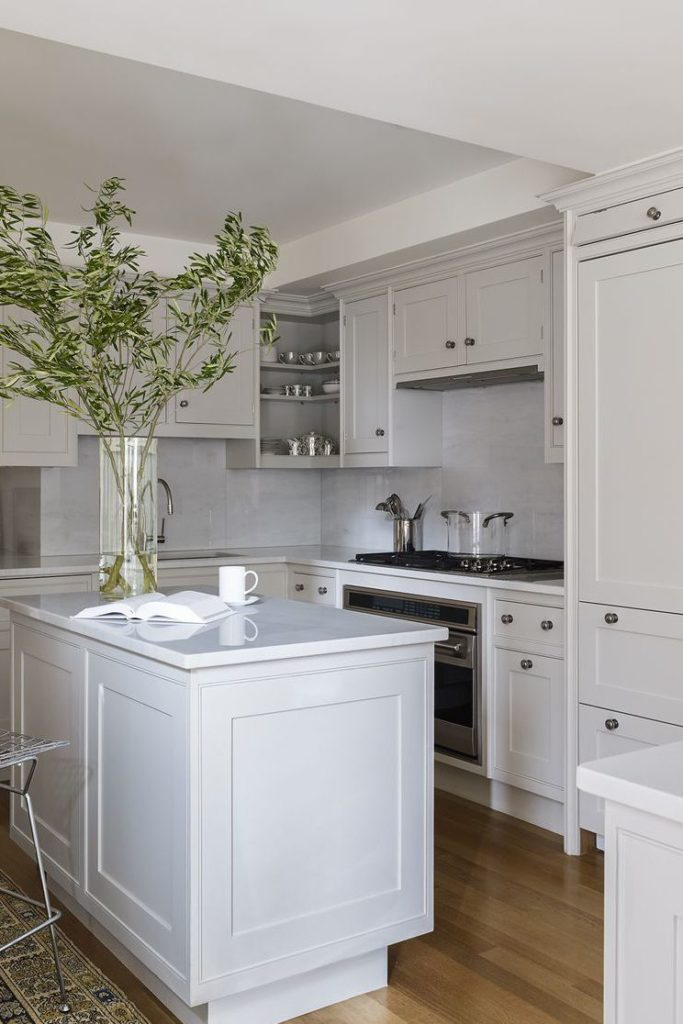 18 pearl grey cabinets