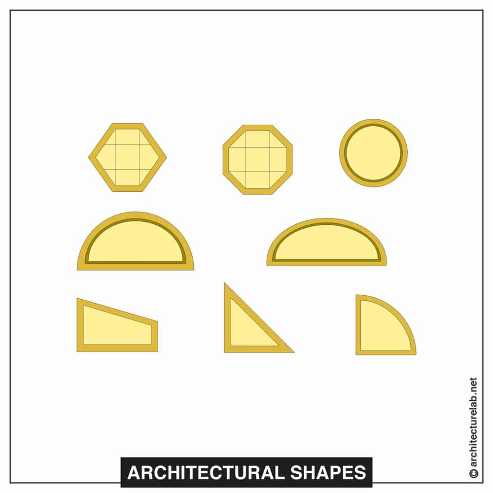 13 architectural shapes