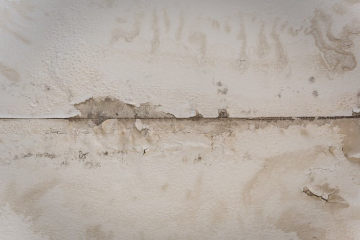 Stained drywall