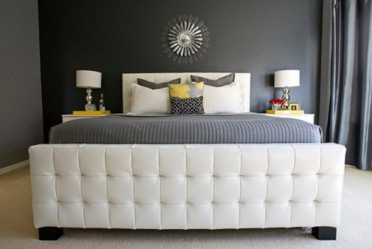 30 Yellow And Gray Bedroom Ideas That