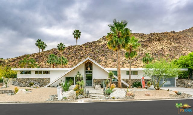 A frame roof mid century home 1