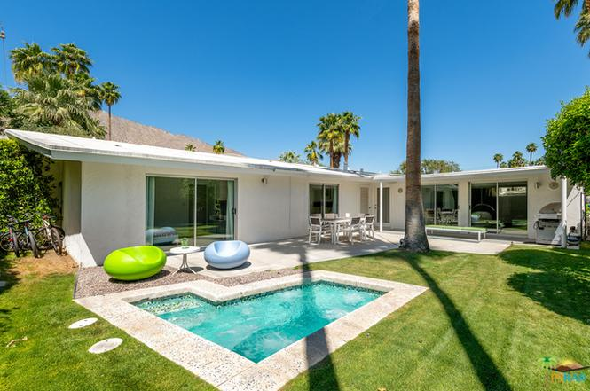 Gated mid century house 4
