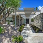 L-shaped mid-century house