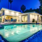 Mid-century house with infinity pool
