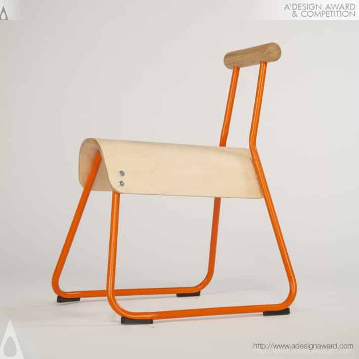Saddle Seat Chair by Masahiko Ito