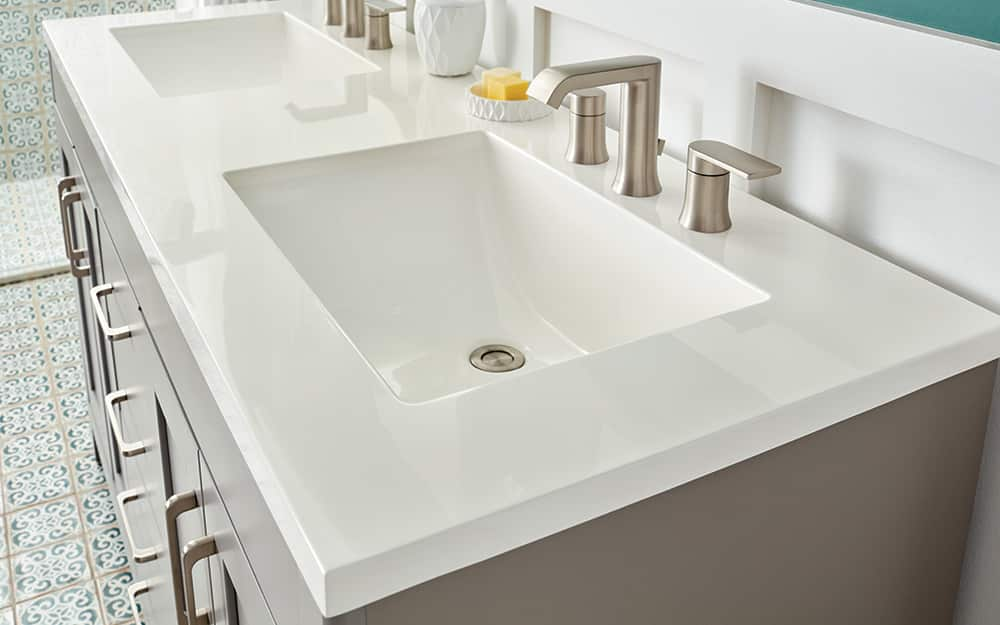 Solid Surface bathroom counter