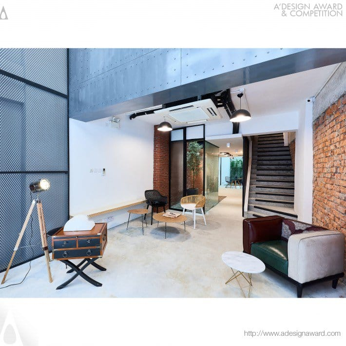 Thedesk coworking space by cocoon architecture ltd.