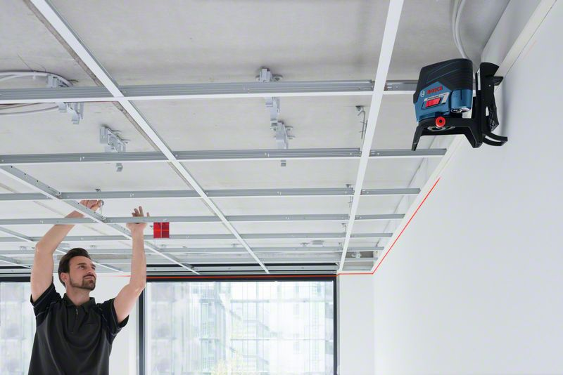 How to install ceiling grid perfectly using rotary laser level 1