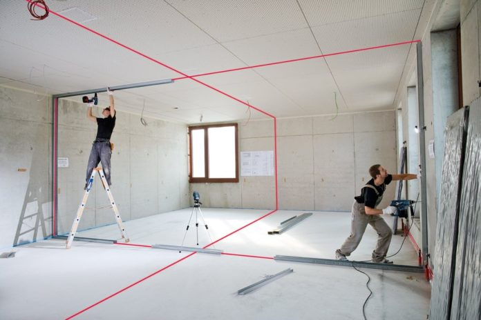 How to Install Ceiling Grid Perfectly Using Rotary Laser Level