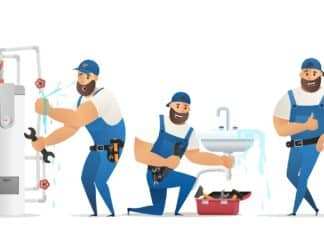 Vector Illustration Concept Plumber Service.