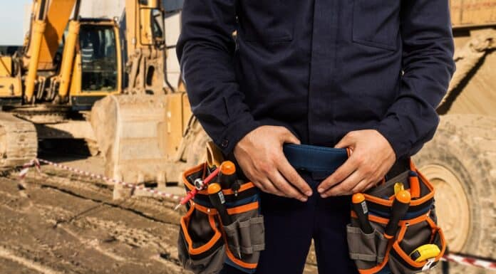 Detail of a worker's tool belt