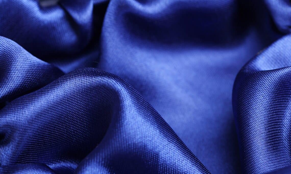 Close up of blue cloth texture