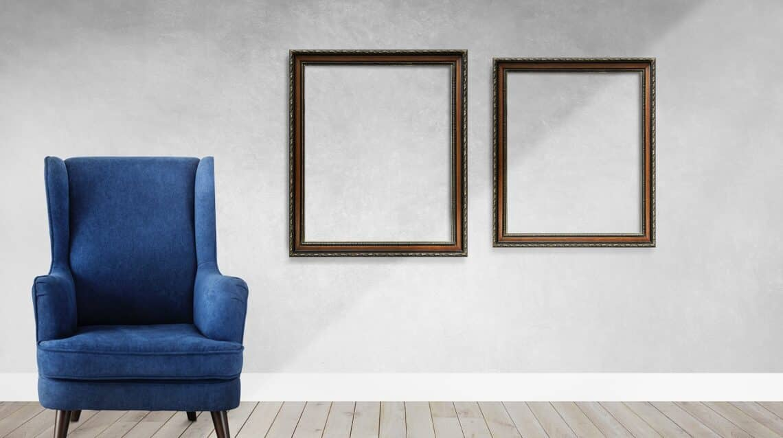 Frame mockups in a living room