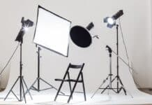 Photostudio tech light devices equipment illuminated indoors