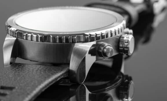 Macro view of expensive watch