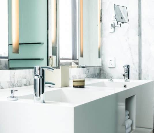 Faucet and Sink decoration in bathroom interior