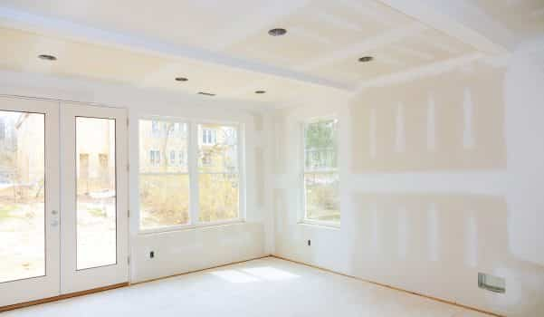 Construction building industry new home construction interior drywall tape a new home before installing